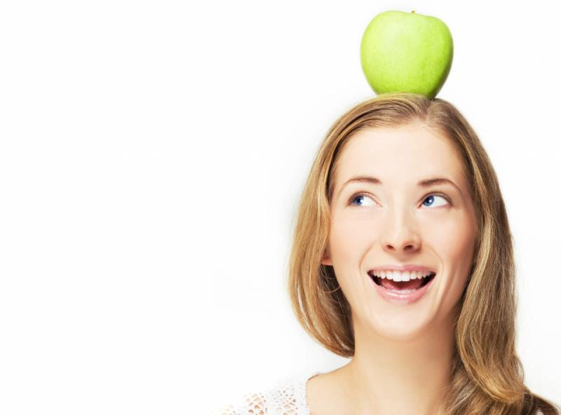 Apple on head