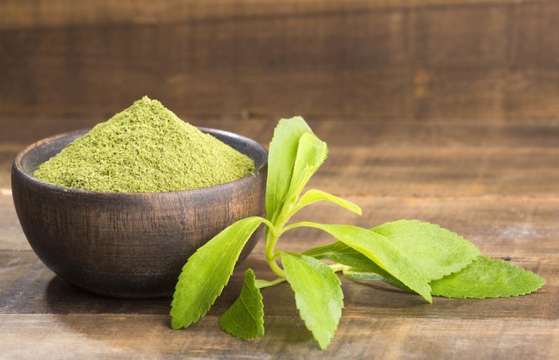 Powdered Stevia Leaf in Bowl