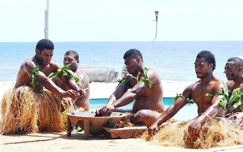 Polynesians making Kava