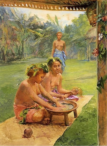 Painting of Kava Making