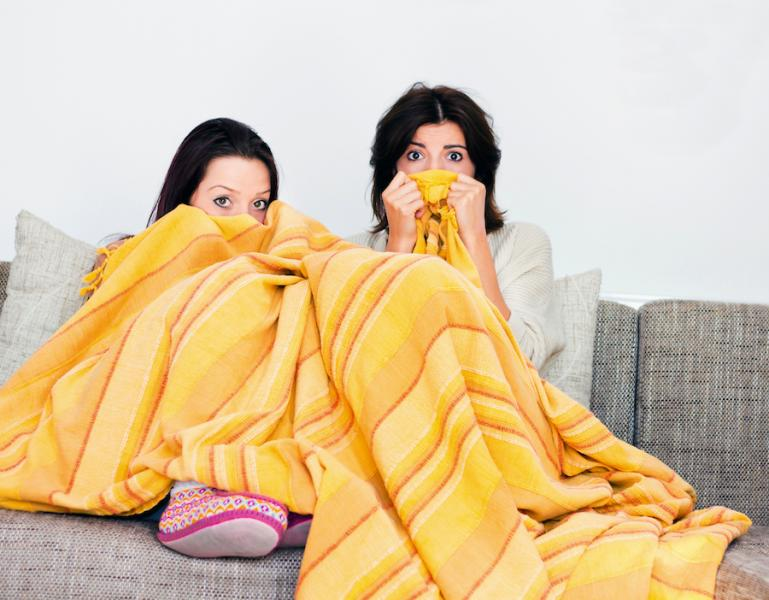 Hiding under a blanket