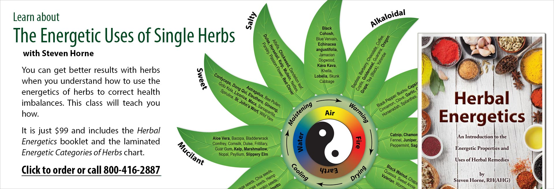 The Energetic Uses of Single Herbs